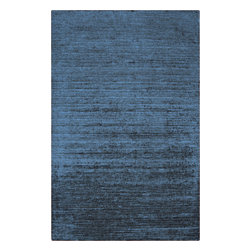 Surya - Haize Rectangular Rug in Slate (2' x 3') - This gorgeous rug is weaved from very high-quality viscose, it will delight you many years. The rug has a wonderful sapphire palette that makes it incredibly attractive.    Features: