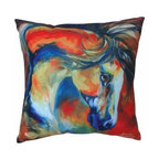 "WL - 16 x 16"" White Mustang Theme Couch Sofa Pillow with Wild Horse Design - This gorgeous 16 x 16"" White Mustang Theme Couch Sofa Pillow with Wild Horse Design has the finest details and highest quality you will find anywhere! 16 x 16"" White Mustang Theme Couch Sofa Pillow with Wild Horse Design is truly remarkable."