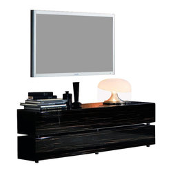Rossetto - Rossetto Nightfly Flap Door Base Unit in Ebony - Rossetto - TV Stands - R413764520003 - Essential solutions in  a game of full and empty spaces without to forget functionality and practicality thanks to the open element and the base with flap door.
