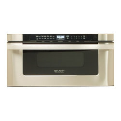 """Sharp - KB-6525PS 30"""" Built-in Microwave Drawer with 1.2 cu. ft. Capacity  1000 Cooking - The KB6525P 30 built-in microwave drawer comes with a capacity of 12 cu ft The easy to read angled controls and digital LCD display makes using this microwave extremely convenient and easy"""