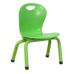 "Flash Furniture - Green Plastic Stackable School Chair with 10.625'' Seat Height - This chair is the perfect size for Preschool to Kindergarten sized children. Having young children sit in a chair that is designed for them is important in developing proper sitting habits that will last them a lifetime. Not only are these chairs designed properly, but they are lightweight so kids can feel independent by moving the chairs themselves.; School Stacking Chair; 220 lb. Static Load Capacity; Encourages proper sitting habits; Primary colors support early childhood development; Primary colors support early childhood development; Green Polypropylene Plastic; Ergonomic One-Piece Shell; Carrying Handle; Green Powder Coated Legs; Plastic Floor Glides; Lightweight Design; Easy To Clean; Stacks up to 5 Chairs High; Recommended for Preschool - Kindergarten Ages; Weight: 5 lbs; Overall Dimensions: 15""W x 13""D x 20""H"