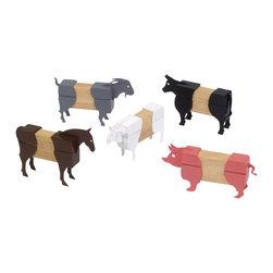 Guidecraft - Guidecraft Hardwood Block Mates Farm Animals - Guidecraft - Wooden Play Sets - G7601 - Oppenheim Toy Portfolio Gold Award And Instructor Magazine Teacher's Best Pick Farm Animals