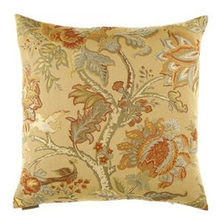 D.V. KAP Home - Tree of Life Gold 24 x 24 Decorative Pillow - -24x24 zippered removable cover  -Comes with Feather/Down insert  -Spot or dry clean D.V. KAP Home - 2042-G