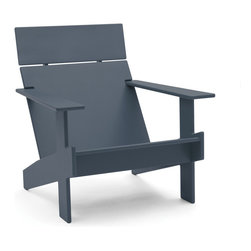 Loll Designs - Lollygagger Lounge, Charcoal Grey - Sometimes there's nothing wrong with letting the day get away from you. Grab a book and glide back into this breezy lounge chair. Its angled design nestles you in comfort, confirming that you're doing exactly the right thing.
