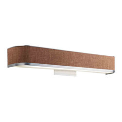 Kichler Lighting - Kichler Lighting 10423BAW Pira Aluminum Wood Linen Wall Sconce - Kichler Lighting 10423BAW Pira Aluminum Wood Linen Wall Sconce
