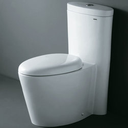 """Atlas International - Ariel """"Monterey"""" Contemporary One Piece White Toilet with Dual Flush - Ariel cutting-edge designed one-piece toilets with powerful flushing system. It's a beautiful, modern toilet for your contemporary bathroom remodel."""