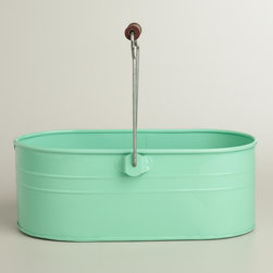 Mint Housekeeping Utility Bucket - This is a fabulous catchall for cleaners and brushes under the sink. I love handled totes because they make it easy to carry cleaning supplies from room to room.