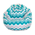 Majestic Home - Outdoor Pacific Zazzle Small Bean Bag - A great addition to any family room, playroom or outdoor seating arrangement, the Majestic Home Goods Small Bean Bag allows your child to read or watch a favorite show in the utmost comfort. Generously filled with eco-friendly polystyrene beads, this chair easily forms to your child's body for an ergonomic lounging experience. This bean bag has an outdoor treated polyester slipcover, with up to 1000 hours of U.V. protection that zips off for easy cleaning.