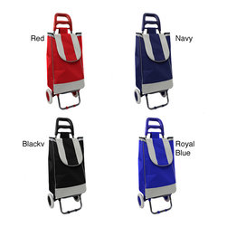 None - Easy Rolling Lightweight Collapsible Shopping Cart - Perfect for toting to the grocery store,flea market,or farmers market,this lightweight collapsible shopping cart makes it easy to transport all of your finds. When not in use,it easily folds down and will tuck away neatly in your car or pantry.