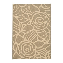 Safavieh - Machine Made Rectangular Rug in Coffee (11 ft. x 7 ft. 10 in.) - Size: 11 ft. x 7 ft. 10 in. Synthetic fiber. Power loomed construction. Transitional sand colored design. Made from polypropylene. Made in Belgium. Safavieh takes classic beauty outside of the home with the launch of their Collection. These rugs are suitable for anywhere inside or outside of the house. To achieve more intricate and elaborate details in the designs, Safavieh used a specially-developed sisal weave. Care Instructions: Vacuum regularly. Brushless attachment is recommended. Avoid direct and continuous exposure to sunlight. Do not pull loose ends; clip them with scissors to remove. Remove spills immediately; blot with clean cloth by pressing firmly around the spill to absorb as much as possible. For hard-to-remove stains professional rug cleaning is recommended.