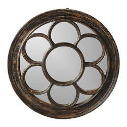 """Butler Specialty - Butler Reclaimed Wood Wall Mirror - Butler Reclaimed Wood Wall Mirror Wood 33.5""""W x 2.5""""D x 33.5""""H"""