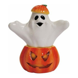 WL - 4 Inch Halloween Orange and Black Boo Salt and Pepper Shakers - This gorgeous 4 Inch Halloween Orange and Black Boo Salt and Pepper Shakers has the finest details and highest quality you will find anywhere! 4 Inch Halloween Orange and Black Boo Salt and Pepper Shakers is truly remarkable.