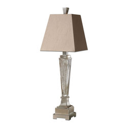 Uttermost - Uttermost 29325 Canino Mercury Glass Pillar Table Lamp - Uttermost 29325 Canino Mercury Glass Pillar Table Lamp