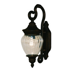 Z-Lite - Z-Lite Devonshire Outdoor X-GB-S6711 - Sophisticated and classic, this small outdoor wall mount is a truly elegant piece. Comprised of cast aluminum (which can endure all seasons), this fixture uses clear beveled glass a combination with a fixture that is highly detailed and finished in black gold, to create a tribute to classic elegance. Select parts of this fixture are hand cast in order to ensure the overall strength of this wonderful fixture.