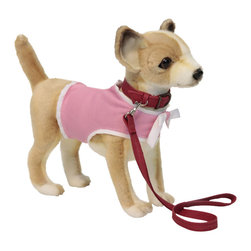 """Hansa Toys - Hansa Chihuahua Dog with Pink Coat and Leash - Hansa Chihuahua Dog with Pink Coat and Leash 6385 is handcrafted from plush. Each animal's """"coat"""" is meticulously cut by hand, never stamped out by machine. Soft paws, swishing tails, and especially soulful eyes and faces are lovingly detailed to create the life-like look that is unmistakably Hansa. Ages 3 and up."""