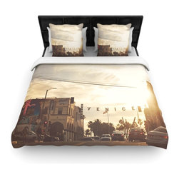 "Kess InHouse - Myan Soffia ""Winter in Venice"" Clouds Sky Fleece Duvet Cover (Twin, 68"" x 88"") - You can curate your bedroom and turn your down comforter, UP! You're about to dream and WAKE in color with this uber stylish focal point of your bedroom with this duvet cover! Crafted at the click of your mouse, this duvet cover is not only personal and inspiring but super soft. Created out of microfiber material that is delectable, our duvets are ultra comfortable and beyond soft. Get up on the right side of the bed, or the left, this duvet cover will look good from every angle."