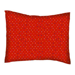 SheetWorld - SheetWorld Twin Pillow Case - Percale Pillow Case - Primary Colorful Pindots Red - Twin Pillow Case. Made of an all cotton percale fabric. Features a beautiful primary colorful pindots red woven print.