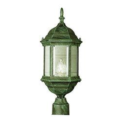 Trans Globe Lighting - Trans Globe Lighting 4352 VG Outdoor Post Light In Verde Green - Part Number: 4352 VG