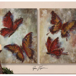 "32170 Hand Painted Art by uttermost - Get 10% discount on your first order. Coupon code: ""houzz"". Order today."