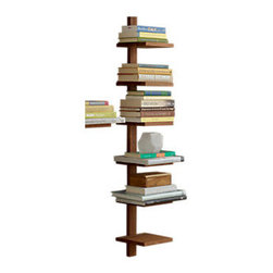 Design Ideas - Takara Column Shelf, Large - The large Takara Column Shelf is ideal for organizing and displaying books, magazines, towels or trinkets. These golden teak objects will blend with most living room or family room decors, and their strong moisture resistance makes them ideal for the bath as well. Mounting hardware is included with the shelves.