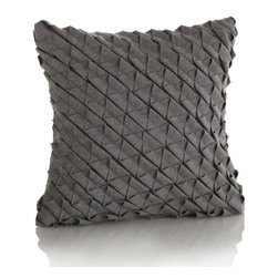 Jaxon Pillow - Add texture to your space with pintucked wool.  The Jaxon Pillow Cover brings fashion to neutrals.