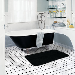 Mohawk Home Bath Rugs - Perfect for any bathroom theme, this non-skid bath rug adds a colorful accent piece to your bathroom decor. Featuring a nylon construction for a soft texture, this comfortable rug is machine washable to ensure an easy cleaning.
