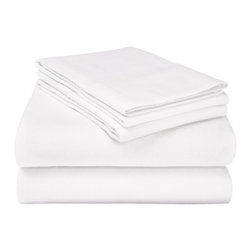 Flannel Full Sheet Set Solid - White - Our Flannel Sheets are made from premium quality cotton. The flannel is also thoroughly brushed in order to ensure optimal softness and comfort.