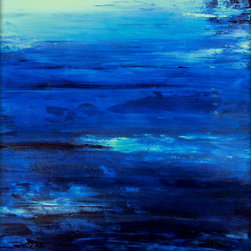 """Seascape PRINT """"OCEAN MIST"""" Contemporary Coastal Artwork - This particular ad is for the largest and most popular size, 29.50 x 40.00 (inches)"""