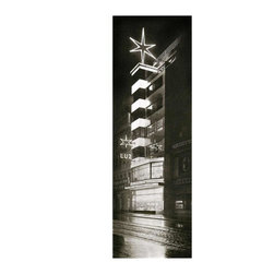 """Luz Department Store, Small, Unframed - This print of a photograph originally taken in 1926 is of the striking art deco Luz Department Store in Stuttgart, Germany. The building was destroyed in 1927. Richard Docker was a prominent modernist architect of the time, holding many government and academic positions in Germany. In 1926 he joined """"The Ring"""", a society of prominent architects in Berlin that included Walter Gropius, Erich Mendelsohn, Ludwig Mies van der Rohe, Adolf Meyer, Bernhard Pankok, Otto Haesler and others. The goal of the members was to fight against the conservative architecture policies of the city."""