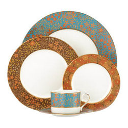 Lenox - Lenox L Collection Gilded Tapestry 5-Piece Place Setting - Lenox L Collection Gilded Tapestry 5-Piece Place Setting