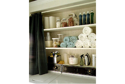 Eclectic  Martha Stewart Storage idea
