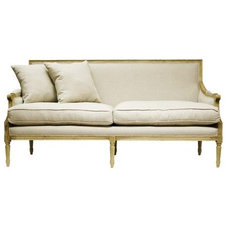 Living Room / Living room....I pinned this Louis Sofa from the Style Study event