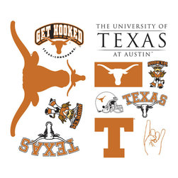 York Wallcoverings - NCAA Texas Longhorns 25pc College Wall Accent Stickers - Features: