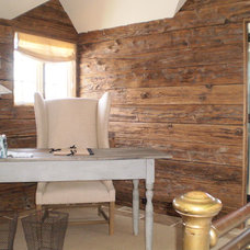 Traditional Home Office by Heritage Wide Plank Flooring