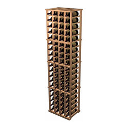 Designer Series Wine Rack - 4 Column Individual - The 4 Column Individual Bottle wine rack supports the same design as the 5 Column Individual Bottle wine rack, but in a smaller width. Each bottle is cradled on two rails that are cut with beveled ends and rounded edges which ensure the labels will not tear when the bottles are removed. The 4 Column Individual Bottle wine rack is 4 columns wide x 20 rows high. Product requires assembly. Please note: molding packages are available separately.