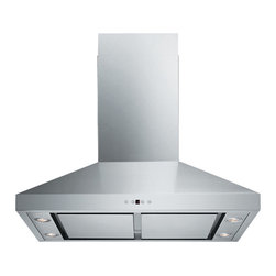 Spagna Vetro - Spagna Vetro 36, SV198F-SP36 Wall-Mounted Stainless Steel Range Hood - Mounting version - Wall Mounted