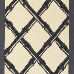 Surya - Surya Bondi Beach BBC-2012 (Black, Charcoal, Ivory) 8' x 10' Rug - This Hand Hooked rug would make a great addition to any room in the house. The plush feel and durability of this rug will make it a must for your home. Free Shipping - Quick Delivery - Satisfaction Guaranteed