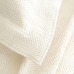Pine Cone Hill - herringbone matelasse coverlet (ivory) - Grown-up herringbone gets a playful update with a wide weave and an array of vibrant colors on our matelasse coverlet.��This item comes in��ivory.��This item size is��various sizes.