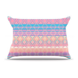 """Kess InHouse - Nina May """"Denin & Diam New Mexico"""" Pastel Pillow Case, Standard (30"""" x 20"""") - This pillowcase, is just as bunny soft as the Kess InHouse duvet. It's made of microfiber velvety fleece. This machine washable fleece pillow case is the perfect accent to any duvet. Be your Bed's Curator."""