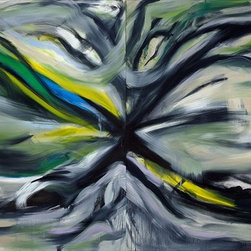 """Eternal, Original, Painting - Original Abstract Modern Contemporary Paintings & Art.  These paintings are my own unique creations inspired by the great artist of the 1950's Abstract Expressionism Movement.  96""""x48' when put together or 2 - 48""""x48"""" oil painting on canvas. This is painted black on the side and is ready to hang with wiring on the back.  This piece is a personal piece which is why I have decided to let it go. I did this painting almost 10 years ago when I was painting on canvas and wood at the time.  As you can see it is the symbol of ETERNITY thus the name it is called is ETERNAL. I am in preparation for a huge project that I will be starting in the fall and I am starting to let some of my larger pieces go for much less. Between 2000 - 2008 I did approximately 150 paintings on canvas and wood and it changed dramatically in the fall of 2008.  Out of the larger works I have about 20 left and might be posting them on here from time to time.  This piece will be shipped and packaged at Fed Ex since they are the most reliable and reasonably priced shipper of very large paintings. I sent two 48""""x48"""" oil paintings on canvas through them to Texas recently and the customer couldn't be happier.  From the time this is purchased it will be approximately a week before I will be able to get it to them since I will be putting on one more black coat of paint on the edges to make sure that when you go to hang it , it will be in the best condition for a stunning show piece.  Fed Ex ground takes approximately 1 week. This will arrive in two separate boxes.  Pricing on shipping is expensive because the size is larger then most paintings you see on here and Fed Ex has all the appropriate materials to package it. If you have any more questions about this, please do not hesitate to ask."""