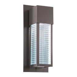 Kichler 1-Light Outdoor Wall Lantern - Architectural Bronze Exterior - One Light Outdoor Wall Lantern
