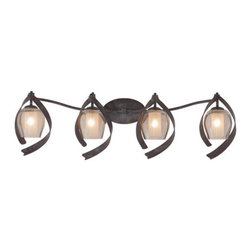 Kalco Lighting - Kalco Lighting 7544OC Solana 4 Light Bathroom Vanity Lights in Oxidized Copper - This 4 light Bath Vanity from the Solana collection by Kalco Lighting will enhance your home with a perfect mix of form and function. The features include a Oxidized Copper finish applied by experts. This item qualifies for free shipping!