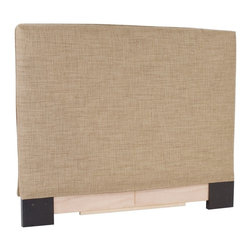 Howard Elliott - Coco Stone Full-Queen Headboard Slipcover - Refresh the look of your slipcovered headboard simply by updating the cover! Change with the seasons, or on a whim. This piece features a soft burlap stone cover.