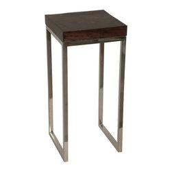 "NOIR - NOIR Furniture - 12"" Railwood Small Side Table - GTAB625TTS - Features:"