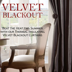 Blackout Curtains. Velvet Blackout Thermal Curtains By Half Price Drapes. Finest - Product Description: