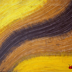 """""""Yellow Brick Road"""" (Original) By J.A. Eise - This Piece Of Work Was Inspired By Color And Texture - I Desired To Create Something That Incorporated The Fine Line Texture And Wave Motion - But Encapsulating A Range Of Natural Colors - As Though A Field Of Wheat.  Yet As I Created The Work - As It Always Does - It Took On A Life Of Its Own."""