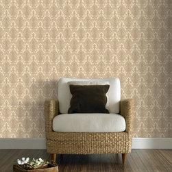Graham & Brown - Ritzy Wallpaper - Inspired by the legendary hotel, the sheer grandeur, opulence and beauty of this design exudes great British style. Texture and gold glitter adds to the richness of this pattern