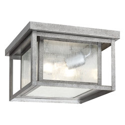 Sea Gull - Sea Gull Two Light Outdoor Ceiling Flush Mount - Width: 10''