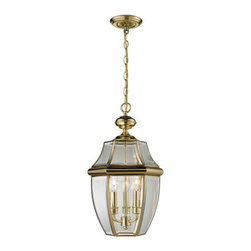 Cornerstone - Cornerstone 8603EH/85 Ashford 3 Light Outdoor Pendants/Chandeliers in Antique Br - Hanging Lantern large