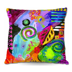 DiaNoche Designs - Pillow Woven Poplin from DiaNoche Designs - Crazy Abstract II - Toss this decorative pillow on any bed, sofa or chair, and add personality to your chic and stylish decor. Lay your head against your new art and relax! Made of woven Poly-Poplin.  Includes a cushy supportive pillow insert, zipped inside. Dye Sublimation printing adheres the ink to the material for long life and durability. Double Sided Print, Machine Washable, Product may vary slightly from image.